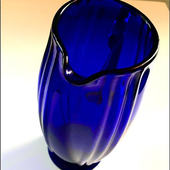 """Rare """"New Martinsville Glass Co."""" Cobalt Pitcher"""